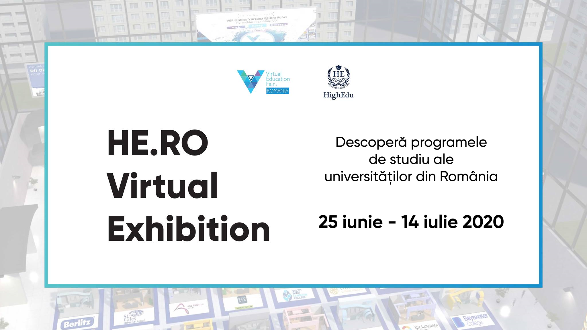 HE.RO- Virtual Exhitition, primul Târg Virtual al Universităților din România